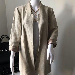 Zara limited edition linen blazer